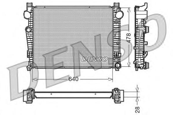DRM17092 Радиатор системы охлаждения MERCEDES-BENZ: S-CLASS (W220) S 280 (220.063, 220.163)/S 320 (220.065, 220.165) 98 - 05