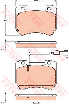 GDB1904 Колодки тормозные ALFA ROMEO 159 05-/BRERA/SPIDER 06- передние
