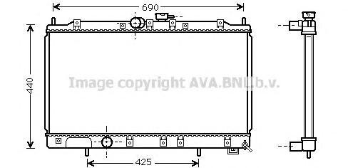 MT2122 Радиатор системы охлаждения MITSUBISHI: GALANT VI (EA_) 2.0 (EA2A)/2.0 TDI (EA6A)/2.4 GDI/2.5 V6 24V (EA5A) 96 - 04 , GAL