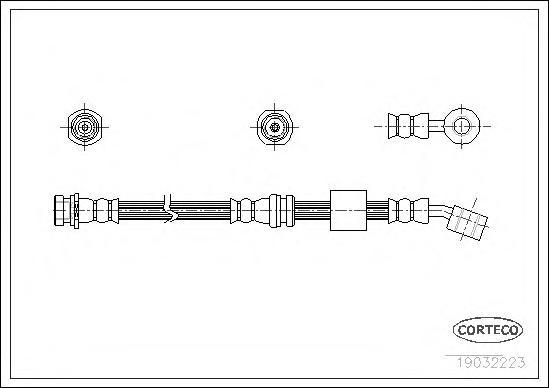 19032223 Шланг тормозной Fr R SUZ 89-99 540мм