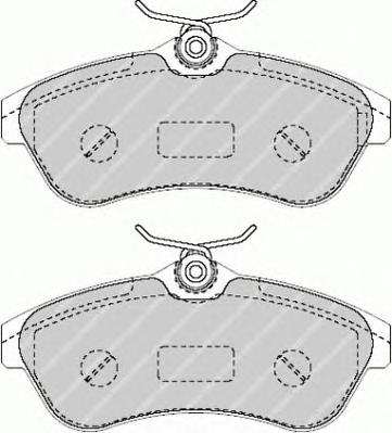 FDB1543 Колодки тормозные CITROEN C2/C3 1.4-1.6 02- передние