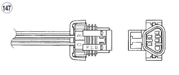 96012 Лямбда-зонд CHEVROLET CAPTIVA 2.4