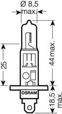 64150NBU02B Лампа H1 12V-55W (P14,5s) NIGHT BREAKER UNLIMITED (блистер 2шт.)
