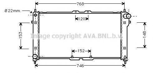MZ2073 Радиатор MAZDA 626 2.2-2.5 92-98