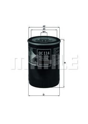 OC114 Фильтр масляный CHEVROLET CORVETTE 5.7