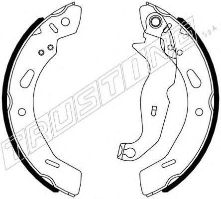 040162 К-т торм. колодок бараб. FO Fiesta VI 08-