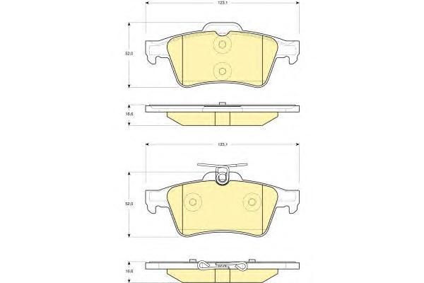 6116212 Колодки тормозные FORD FOCUS II/III/MAZDA 3/OPEL VECTRA C/VOLVO S40 задние