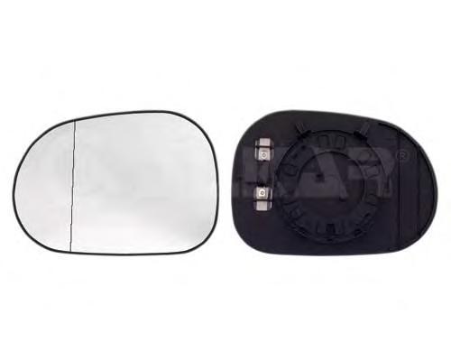 6472565 Стекло зеркала MERCEDES M (W163) I 98-01 правое с обогр.