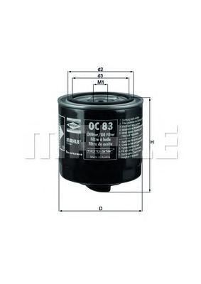 OC83 Фильтр масляный SCANIA