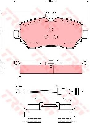 GDB1480 Колодки тормозные MERCEDES VANEO 1.6-1.9 02- передние
