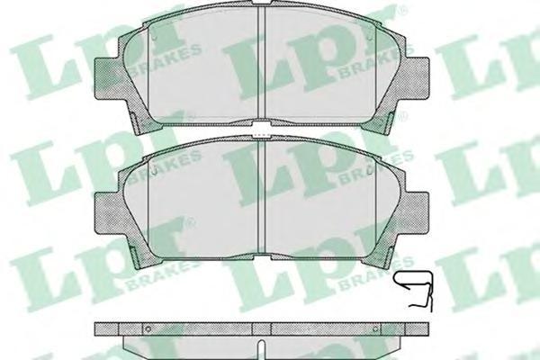 05P573 Колодки тормозные TOYOTA AVENSIS 1.6-2.0 97-03/CARINA E 2.0 92-97 передние