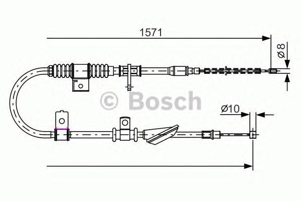 1987482169 Трос, стояночная тормозная система