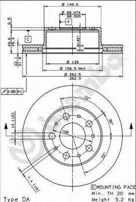 09508210 Тормозной диск