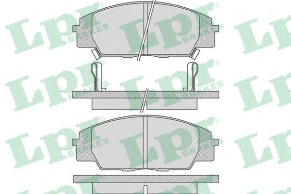 05P1070 Колодки тормозные HONDA CIVIC TYPE R 2.0 01-/S2000 2.0 99- передние
