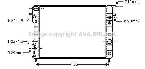 OLA2193 Радиатор OPEL OMEGA B 2.5-3.2 A/T 94-01