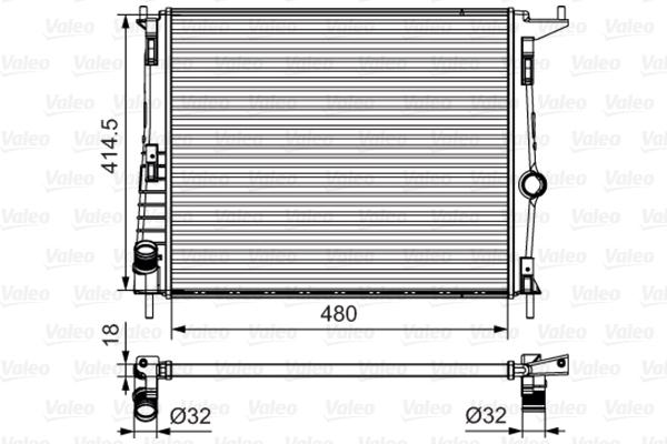 700802 Радиатор системы охлаждения Renault Logan,Renault Sandero ,Lada Largus,Nissan Almera 1,4/1,6