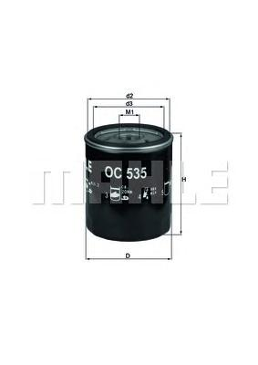 OC535 Фильтр масляный FORD C-MAX/FOCUS II/MONDEO 1.8 TDCI