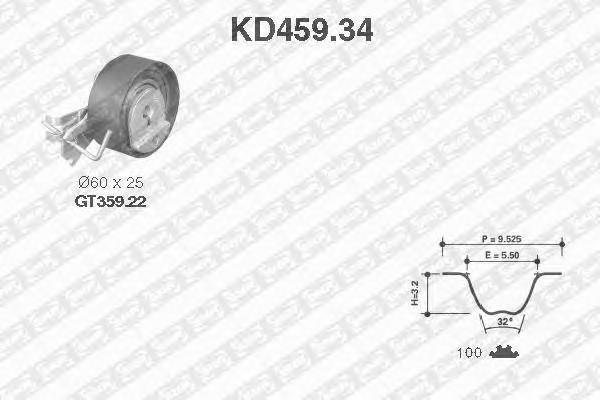 KD45934 Комплект ГРМ TU1JP
