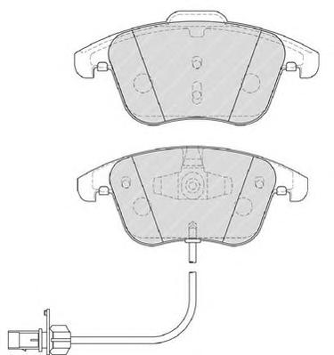 FDB4045 Колодки тормозные AUDI A4/A4 ALLROAD/A5 1.8-3.2 07- передние с датч.