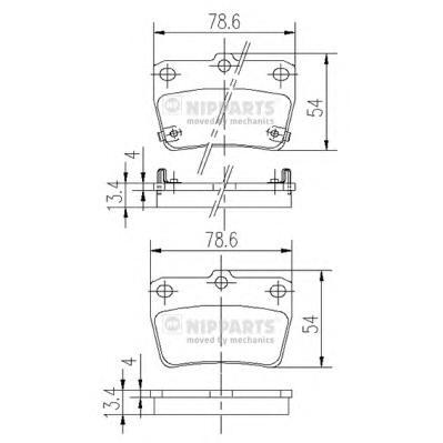J3612020 Колодки тормозные TOYOTA RAV 4 II 1.8-2.0 00-05 задние