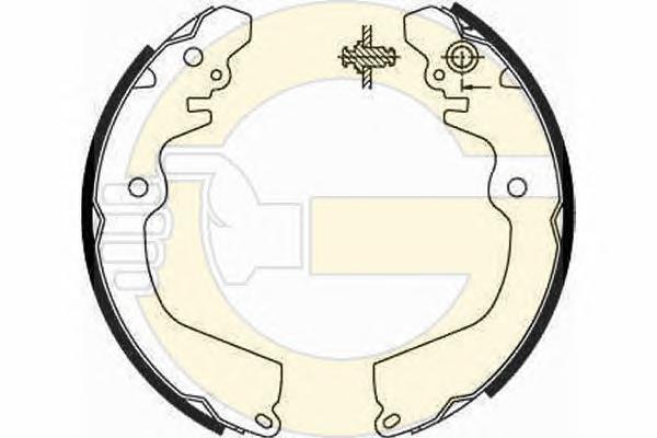 5186669 Колодки торм.бар.MITSUBISHI CARISMA/COLT/GALANT/LANCER/SPACE RUNNER 92-03