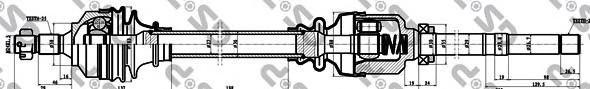 245104 Привод в сборе CITROEN BERLINGO I-II/C4/PEUG PARTNER/307 1.4HDI-2.0HDI 00- прав.