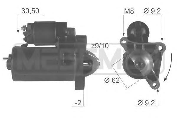 220044 220044R_стартер Citroen Berlingo/BX/C2/C3/C4/Xsara Picasso ZXPeugeot (восстанов.)