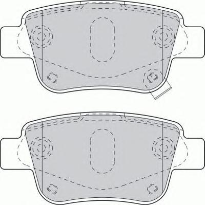 FDB1649 Колодки тормозные TOYOTA AVENSIS 03/COROLLA VERSO 04 задние
