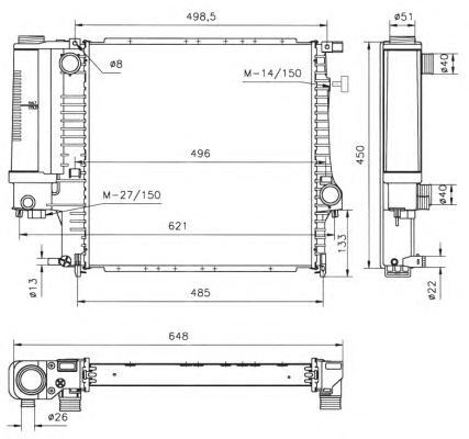 53849 Радиатор BMW 3 (E30, E36)