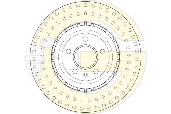 6061495 Диск тормозной AUDI A6/A7/Q5 08- передний вент.