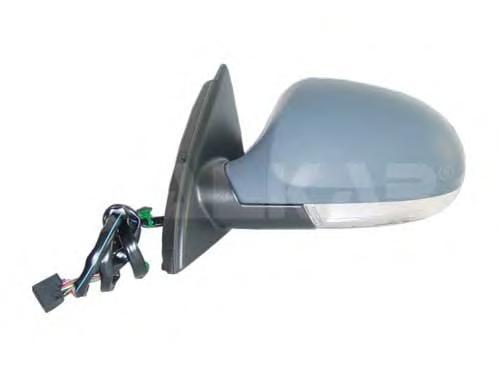 6142118 Зеркало в сборе с электроприводом, с лампой рассеяного света, правое, грунтованное / VW Passat-VI 2005~