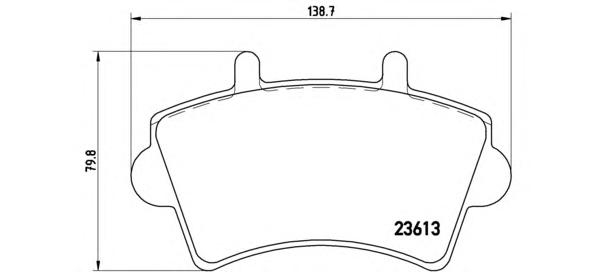 P59039 Колодки тормозные NISSAN INTERSTAR/OPEL MOVANO/RENAULT MASTER 00- передние