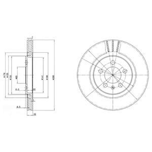 BG2713 Диск тормозной VW GOLF III/PASSAT/VENTO 91-99 передний вент.D=280мм.