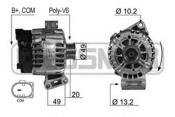 210430 Генератор FORD 120A 14V