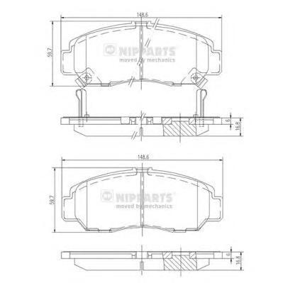 J3604051 Колодки тормозные HONDA CIVIC 01-05/FR-V 1.7-2.2 05-/STREAM 1.7/2.0 01- передние