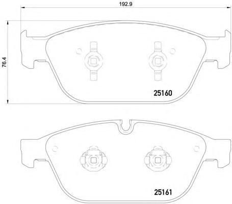 P85128 Колодки тормозные AUDI A8 3.0-4.2 (1LJ) 09- передние