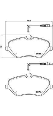 p61078 Колодки тормозные дисковые передние, комплект