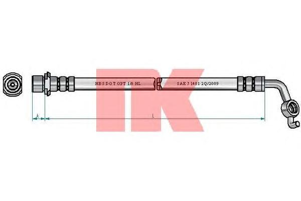 8545180 Шланг тормозной TOYOTA RAV 4 III 08- задний правый