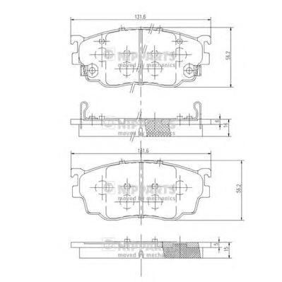 J3603051 Колодки тормозные MAZDA 626 97-02/PREMACY 99- передние