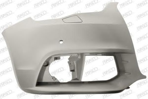AD1201113 Бампер передний, правая часть (для а/м с омывателем фар и парктроником) / AUDI A1 10~