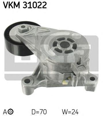 VKM31022 Ролик натяжной поликлинового ремня Audi. VW 1.9/2.0TDI 10/03
