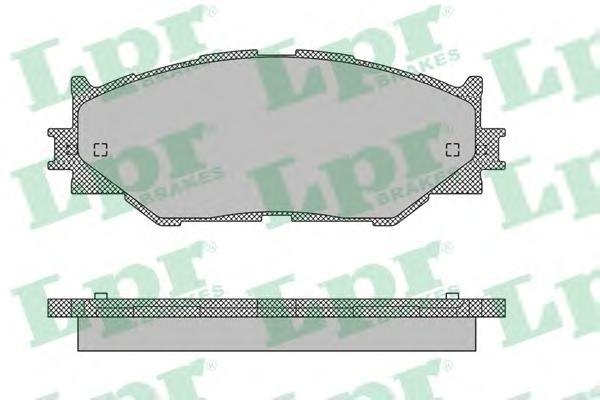 05P1412 Колодки тормозные LEXUS IS220/IS250 05- передние