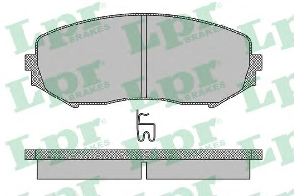 05P1318 Колодки тормозные SUZUKI GRAND VITARA 1.9D/1.6/2.0/2.4/2.7/3.2 05 передние