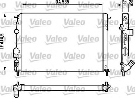 732866 Радиатор системы охлаждения RENAULT: MEGANE I Cabriolet (EA0/1_) 2.0 16V 96-03, MEGANE I Classic (LA0/1_) 1.4 16V (LA0D,
