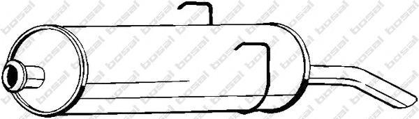 190787 Глушитель PEUGEOT 405 1.4-1.9/1.9D 87-96