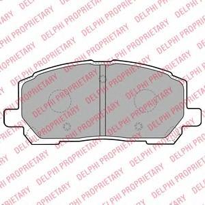 LP1908 Колодки тормозные LEXUS RX300 00-01 передние