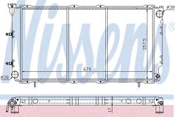 64096 Радиатор SUBARU LEGACY I 1.8-2.2 89-95