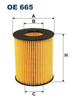 OE665 Фильтр масляный FORD/MAZDA 1.8-2.5