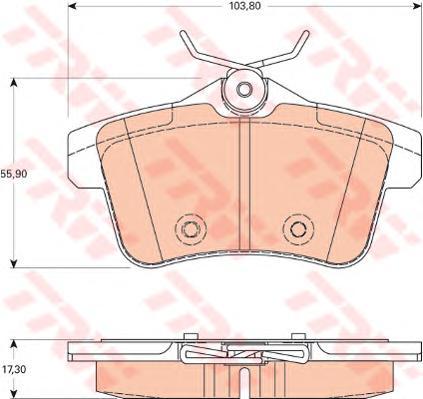 GDB1828 Колодки тормозные CITROEN C4 09-/PEUGEOT 3008/5008 09- задние