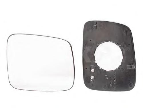 6432986 Стекло зеркала правое, сферическое с обогревом / VW T-4 91~